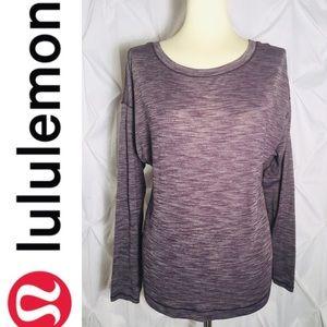 Lululemon Long Sleeve Top w/ Lace-up Back (Med)